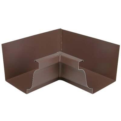 Spectra Metals 5 In. Aluminum Brown Mitre Gutter Inside Corner