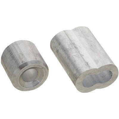 National 1/4 In. Aluminum Garage Door Ferrule & Stop Kit