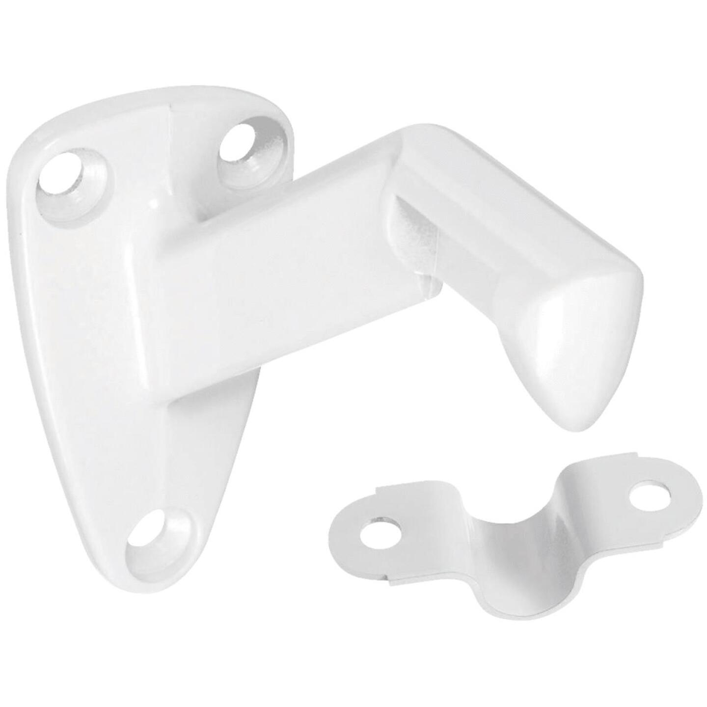 National White Zinc Die-Cast With Steel Strap Handrail Bracket Image 1