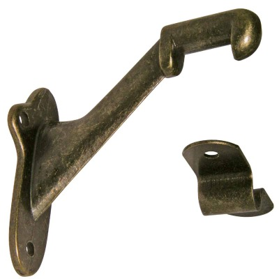 Ultra Hardware Antique Brass Standard Handrail Bracket