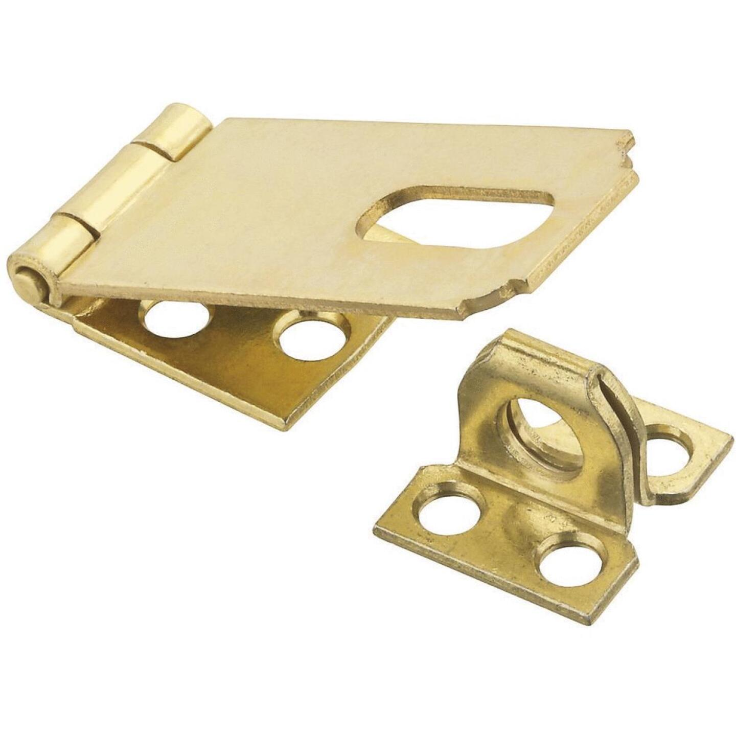 National 2-1/2 In. Brass Non-Swivel Safety Hasp Image 1