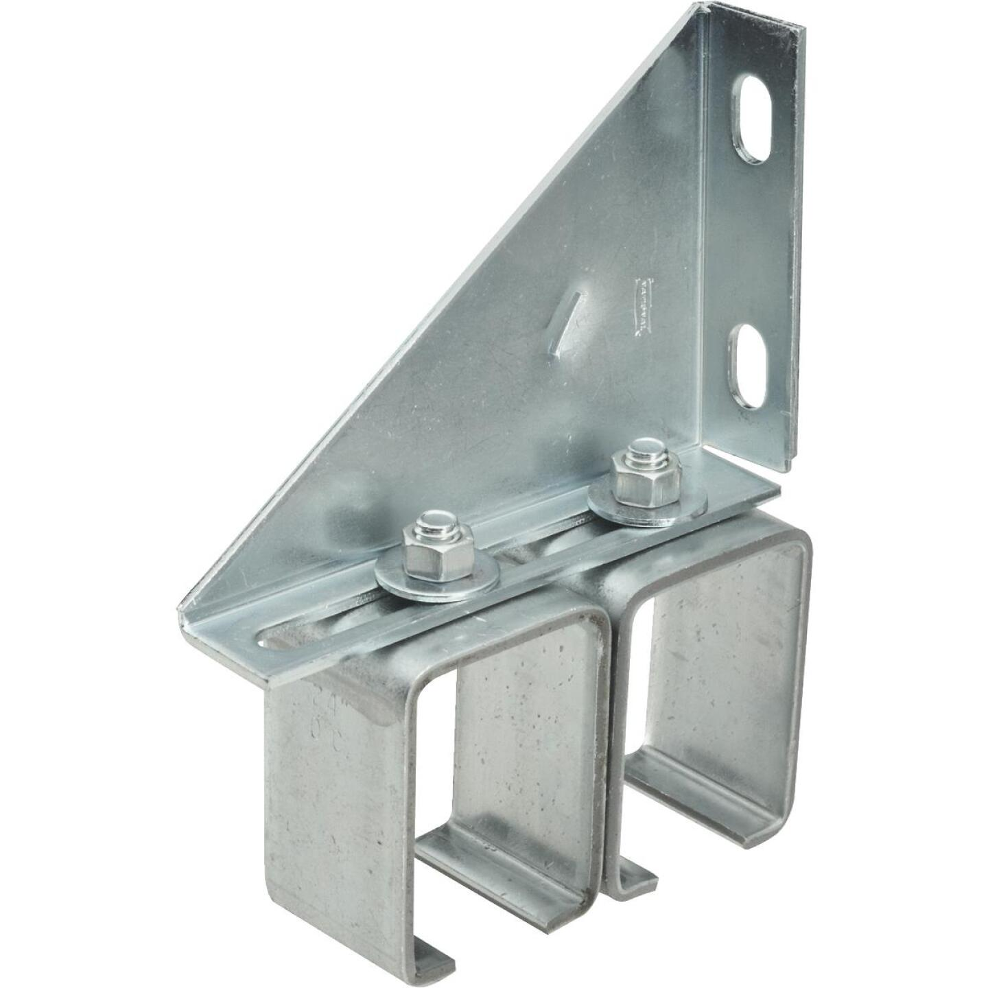 National Galvanized Double Box Rail Barn Door Bracket Image 1